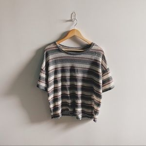 AEO striped scoop neck relaxed fit tee